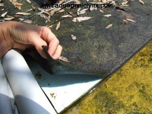 Capillary Matting edge over foam raft