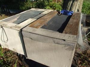 old wood bins
