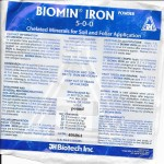 BioMin Chelated Iron Lable